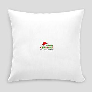 merrywhite2 Everyday Pillow