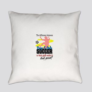 girls soccer Everyday Pillow