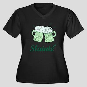 Slainte Beer Mugs Plus Size T-Shirt