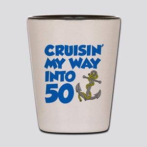 Cruisin Way Into 50 Shot Glass