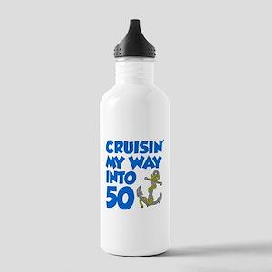 Cruisin Way Into 50 Water Bottle