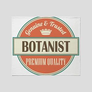 botanist vintage logo Throw Blanket