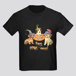 Halloween Puppies Kids Dark T-Shirt