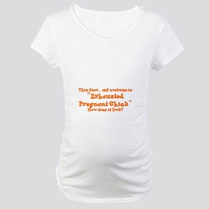 HALLOWEEN - EXHAUSGTED PREGNANT Maternity T-Shirt
