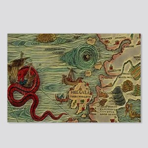 Antique Map Postcards (Package of 8)