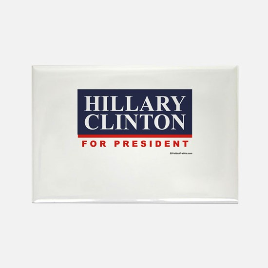 Hillary Clinton for President Rectangle Magnet