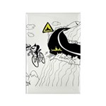 Bicycle Cartoon 9334 Rectangle Magnet
