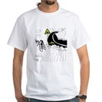 Bicycle Cartoon 9334 White T-Shirt