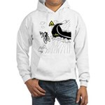 Bicycle Cartoon 9334 Hooded Sweatshirt