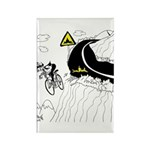Bicycle Cartoon 9334 Rectangle Magnet (10 pack)