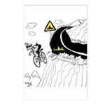 Bicycle Cartoon 9334 Postcards (Package of 8)