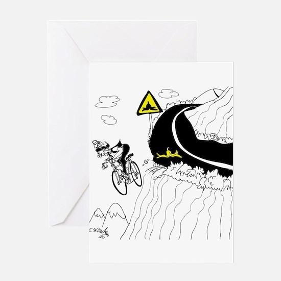 Bicycle Cartoon 9334 Greeting Card