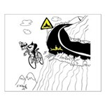 Bicycle Cartoon 9334 Small Poster