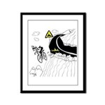 Bicycle Cartoon 9334 Framed Panel Print