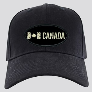 Canadian Flag: Canada Black Cap with Patch
