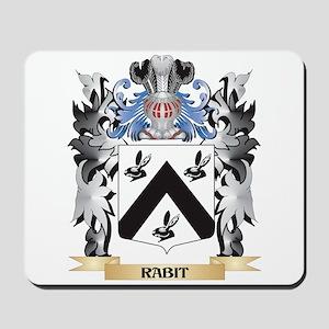 Rabit Coat of Arms - Family Crest Mousepad