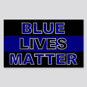 Blue Lives Matter Silver Sticker