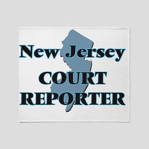 New Jersey Court Reporter Throw Blanket