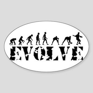 Baseball Player Oval Sticker
