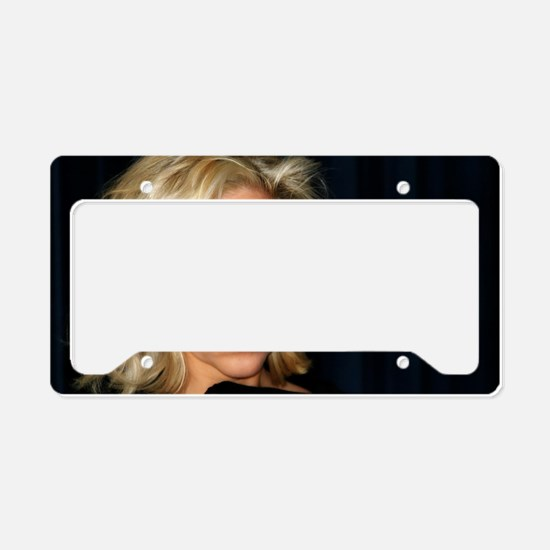 Blond Woman License Plate Holder