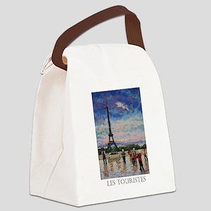 Les Touristes Canvas Lunch Bag