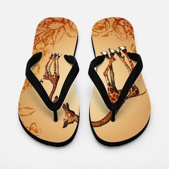 Cute giraffe Flip Flops