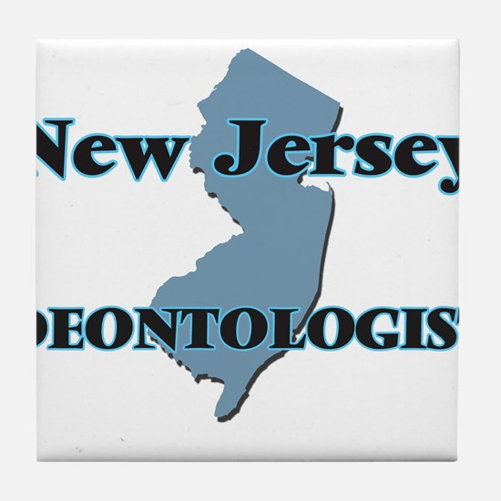 New Jersey Deontologist Tile Coaster