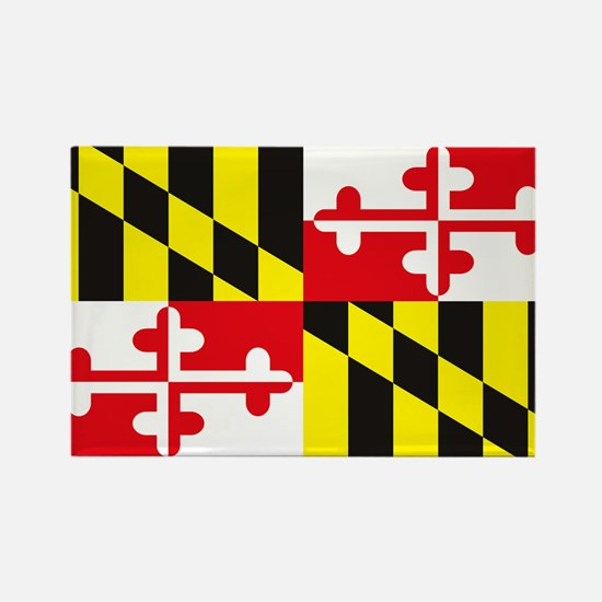 Cute Maryland flag Rectangle Magnet (10 pack)