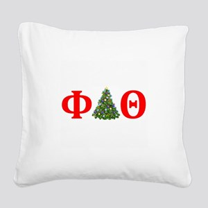Phi Delta Theta Christmas Square Canvas Pillow