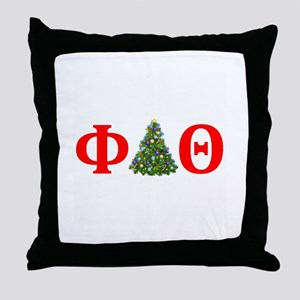 Phi Delta Theta Christmas Throw Pillow