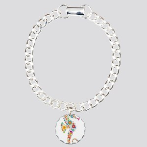 Cute Colorful Retro Flor Charm Bracelet, One Charm