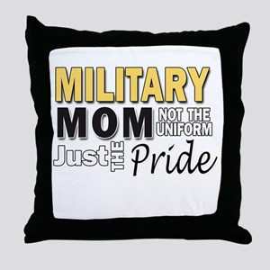 Military Mom Pride Throw Pillow
