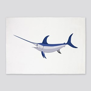 Swordfish 5'x7'Area Rug