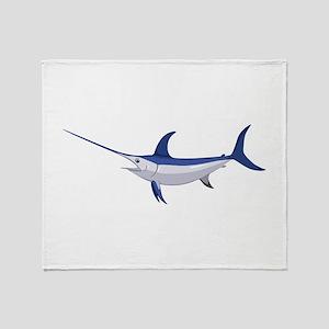 Swordfish Throw Blanket