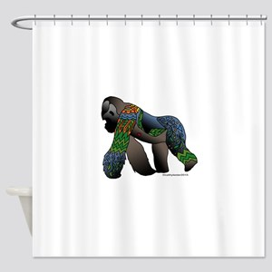 Zentangle Gorilla Shower Curtain