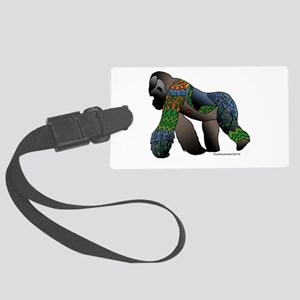 Zentangle Gorilla Large Luggage Tag