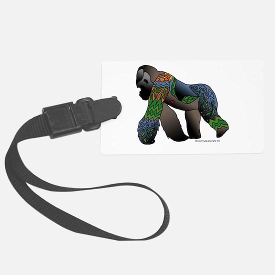 Zentangle Gorilla Luggage Tag