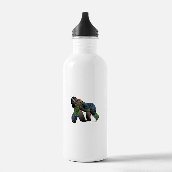 Zentangle Gorilla Water Bottle