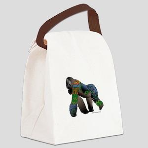 Zentangle Gorilla Canvas Lunch Bag
