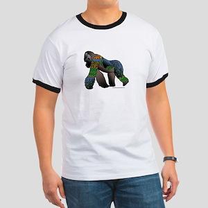Zentangle Gorilla Ringer T
