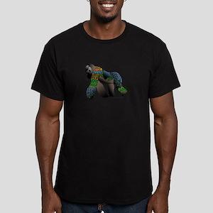 Zentangle Gorilla Men's Fitted T-Shirt (dark)