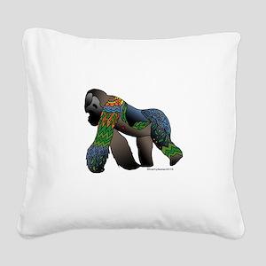 Zentangle Gorilla Square Canvas Pillow