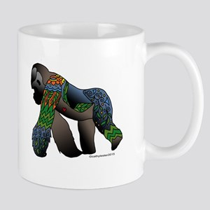 Zentangle Gorilla Mug