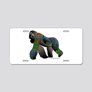 Zentangle Gorilla Aluminum License Plate