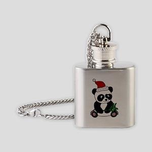 Christmas Panda Bear Flask Necklace
