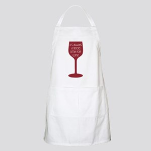 Good Time For Wine Apron