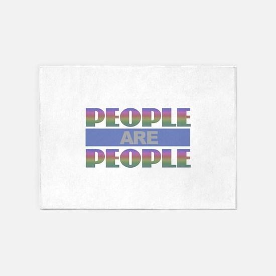 People are People - Rainbow 5'x7'Area Rug