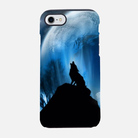 Wolf Howling At The Moon iPhone 8/7 Tough Case