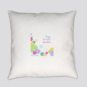Happy Birthday Grandma Everyday Pillow