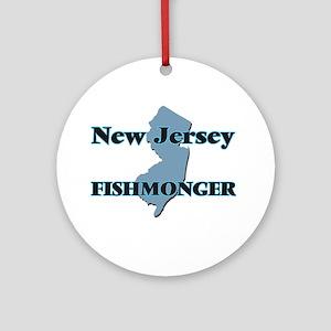 New Jersey Fishmonger Round Ornament